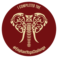 elephant yoga sticker