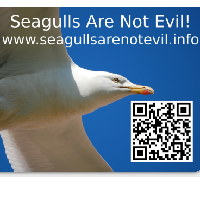 free seagulls are not evil sticker